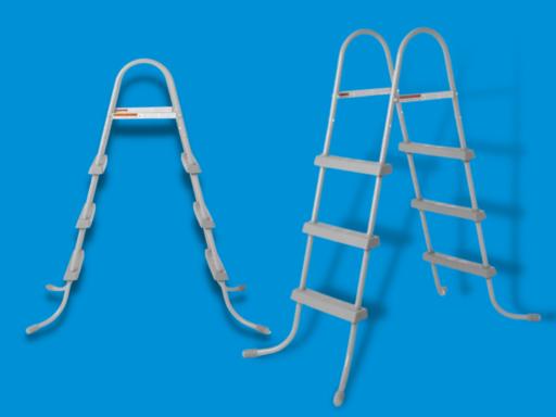 above ground pool ladder with platform