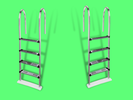 blue wave stainless steel pool ladder