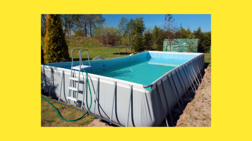 how to secure above ground pool ladder